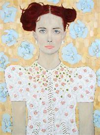"""Ryan Pickart, """"Janine"""", oil on canvas"""