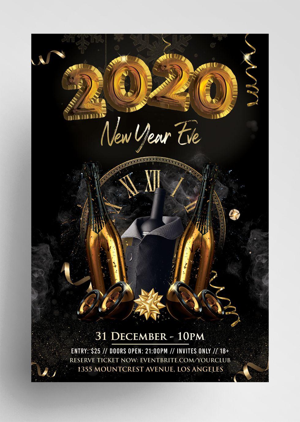 New Year Eve PSD Flyer Template vol PixelsDesign