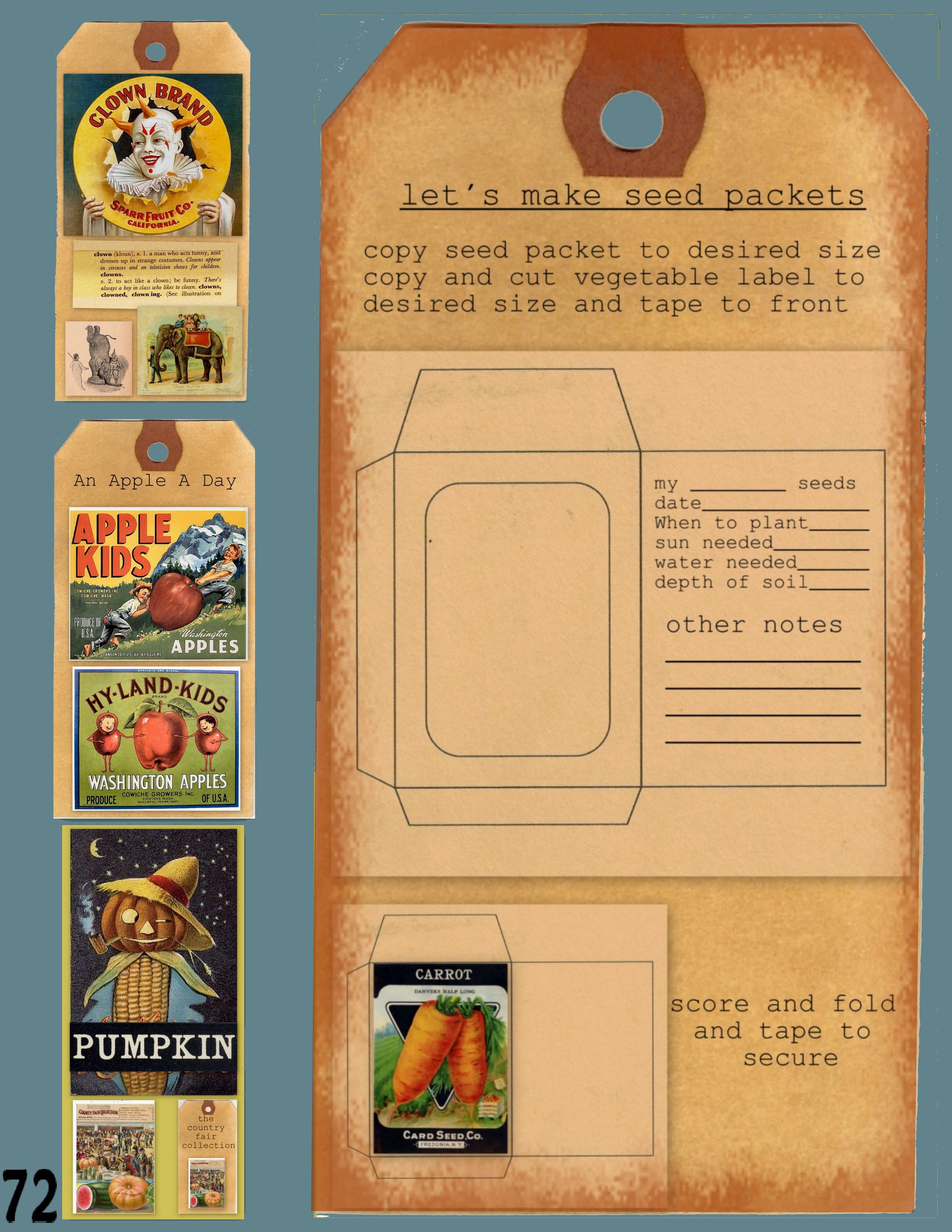 Seed Packet Template Cutout Seed Packets Pinterest Seed - Seed packet template