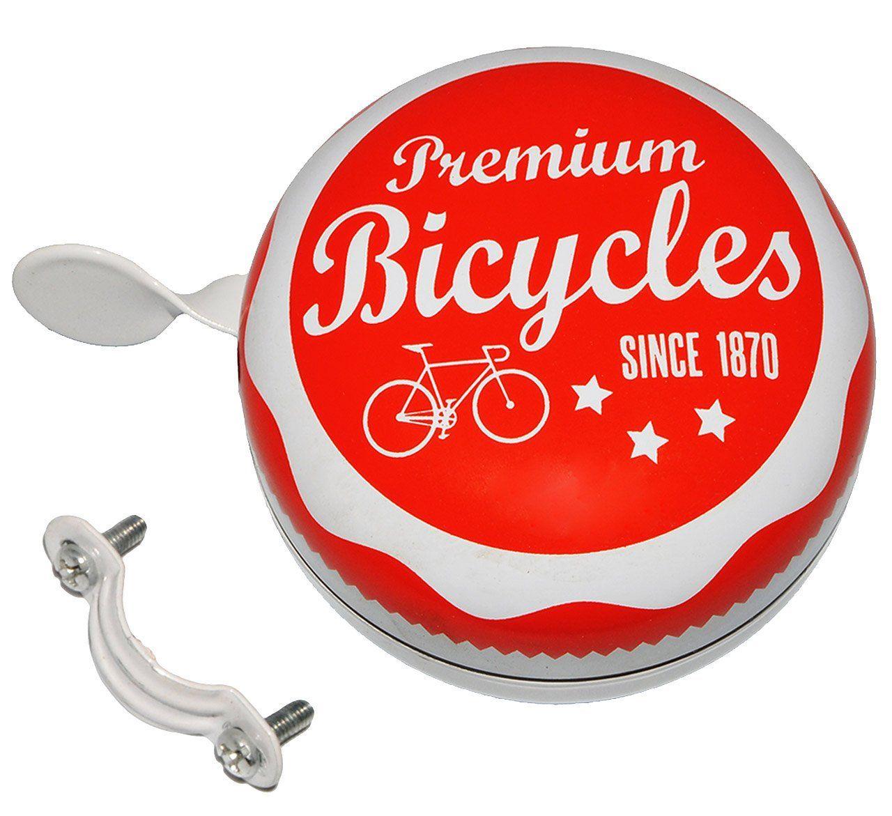 Vintage Metall-Klingel Fahrradklingel Fahrradglocke Premium Bicycles Since 1870