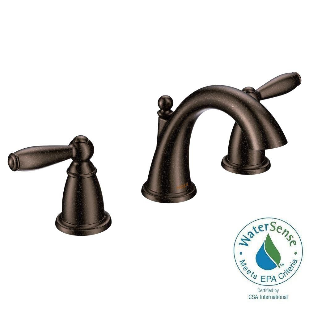 Moen Brantford 8 Inwidespread 2Handle Higharc Bathroom Faucet Amazing Oil Rubbed Bronze Bathroom Faucet Design Inspiration