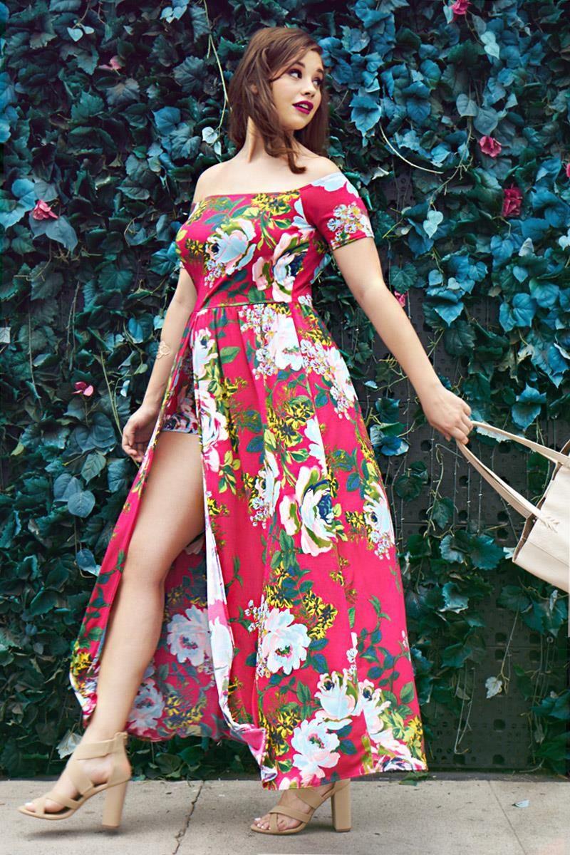 9e6ca5c1a3c8 Maxi Overlay Skirt Romper Dresses+ GS-LOVE Plus Size Romper