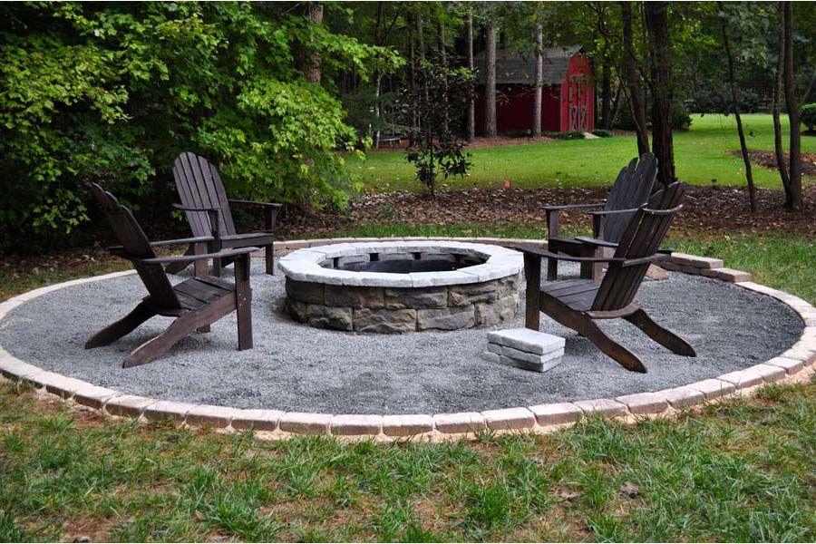 Lovely Image Of: Outdoor Fire Pit Ideas Brick