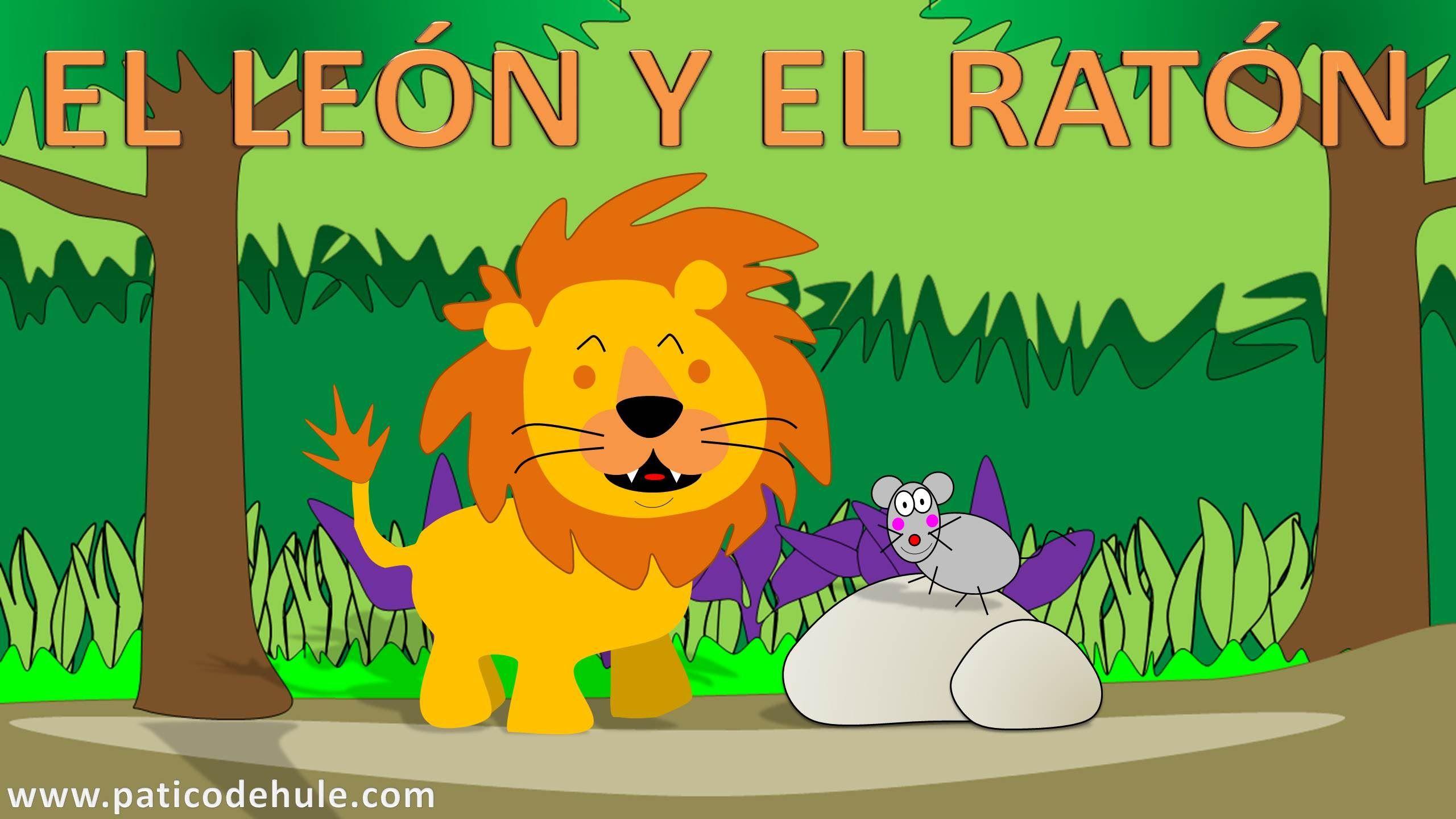 EL LEÓN Y EL RATÓN fábula con moraleja para niños. | cuentos ...