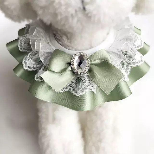 Photo of R $ 51.6 5% off   Cat scarf pet bow bib dog bib saliva towel jewelry decorative kitten with bow bib scarf size xs xl   Dog accessories     – AliExpress