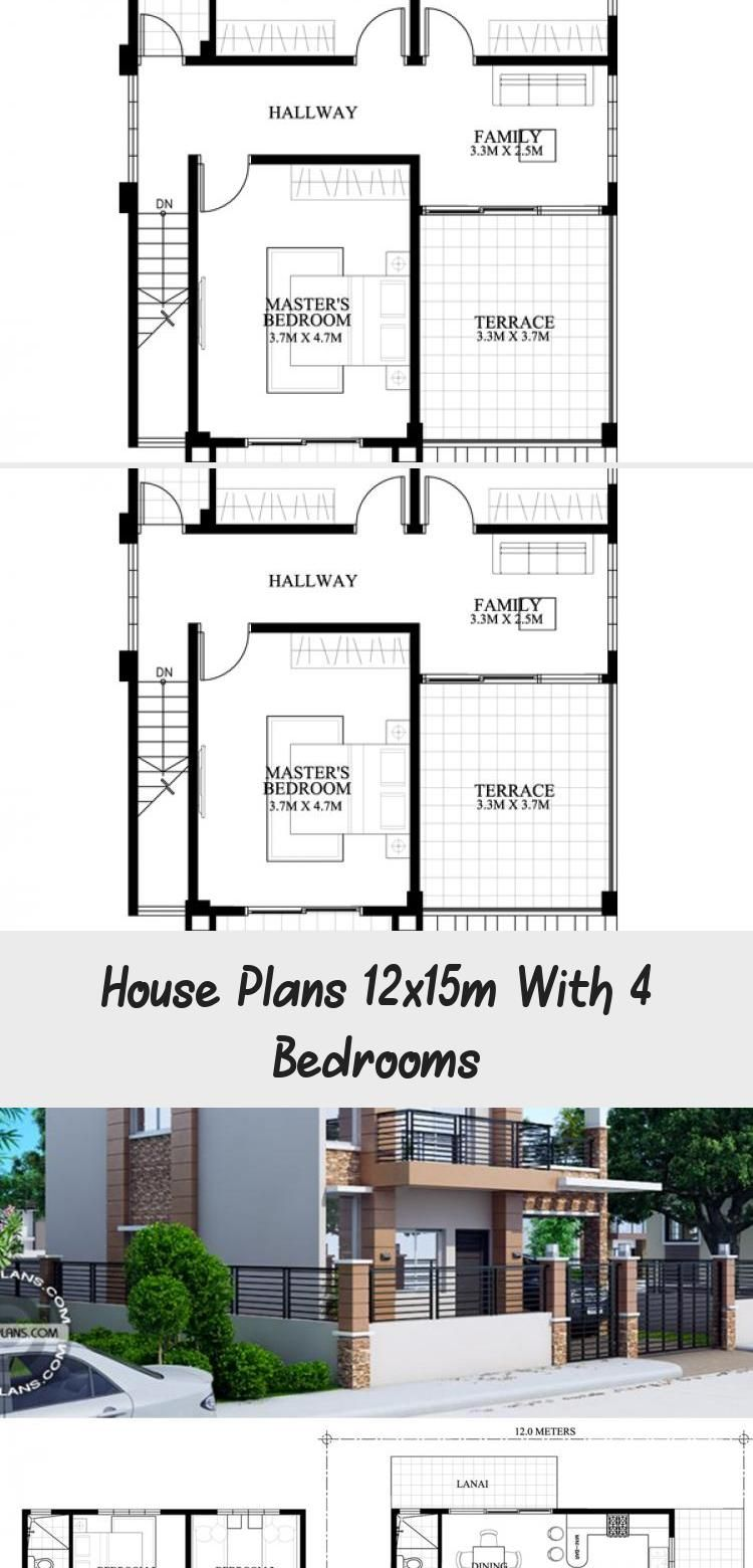 House Plans 12x15m With 4 Bedrooms Home Ideassearch Houseplanswithpool Europeanhouseplans In 2020 Coastal House Plans Square House Plans House Plans South Africa