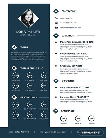 FREE Creative Director Resume/CV Template - Word (DOC) | PSD | Apple (MAC) Pages | Publisher