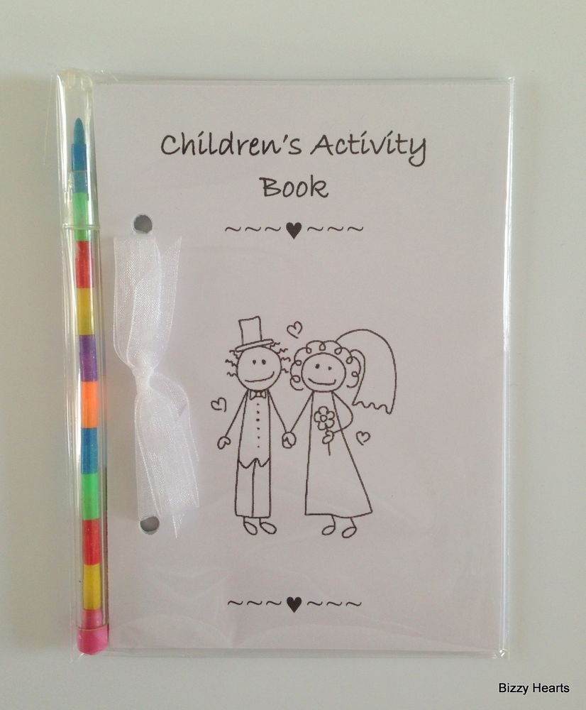 CHILDRENS WEDDING ACTIVITY PACK BOOK BAG PARTY IDEAL GIFT FAVOUR