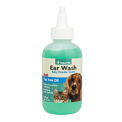 Naturvet Ear Wash With Tea Tree Oil 4 Ounce Find Out More About The Great Product At The Image Link Note It S An Affiliate Lin Cat Fleas Oils For Dogs Ear Cleaning