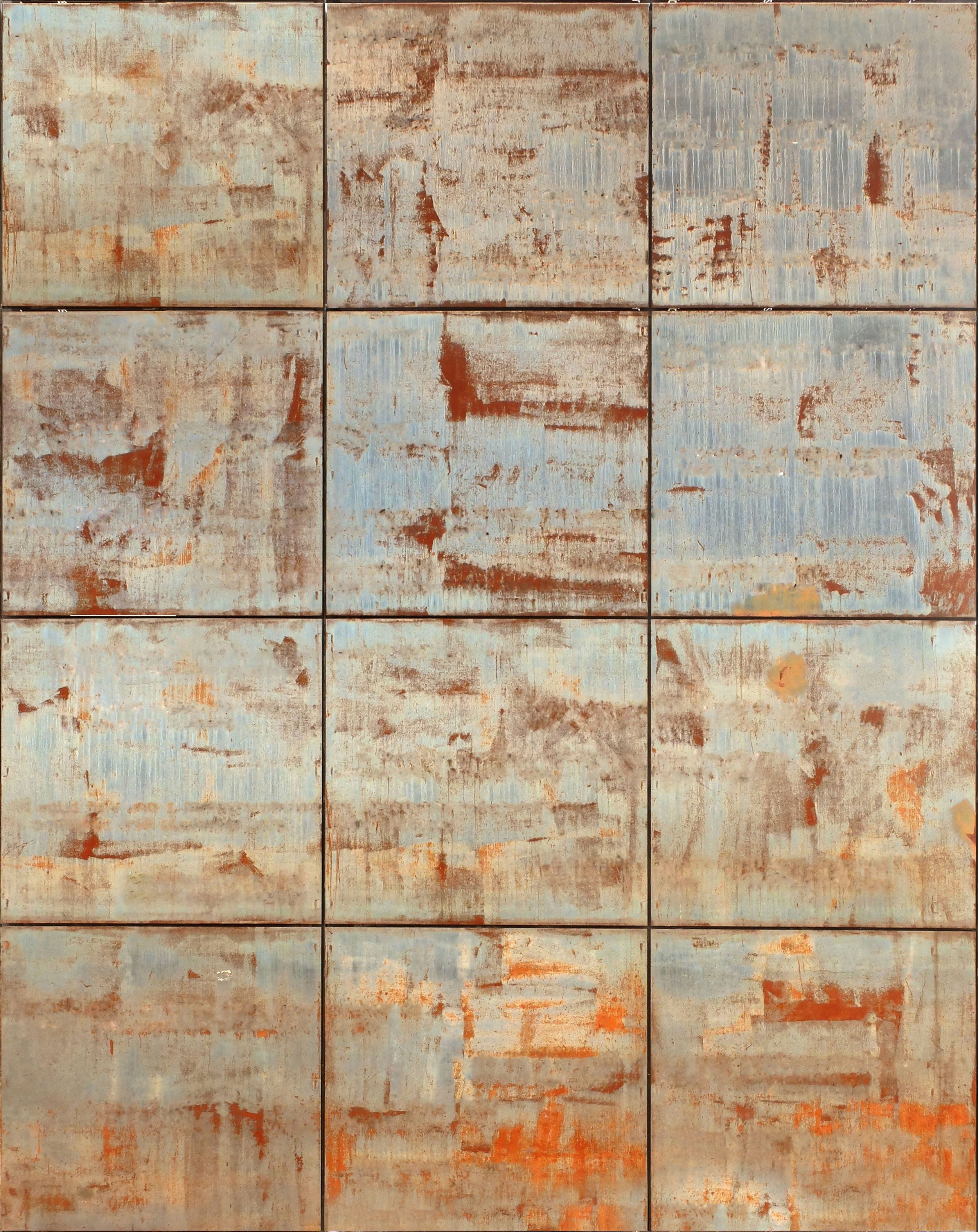 Weathered Steel Panels Seamless Texture Materials