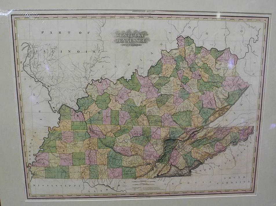 Kentucky and Tennessee by H. S. Tanner., From His Fine Folio American Atlas, TANNER, H.S., TANNER, H.S. (Published: TANNER, H.S.  1823 PHILADELPHIA)