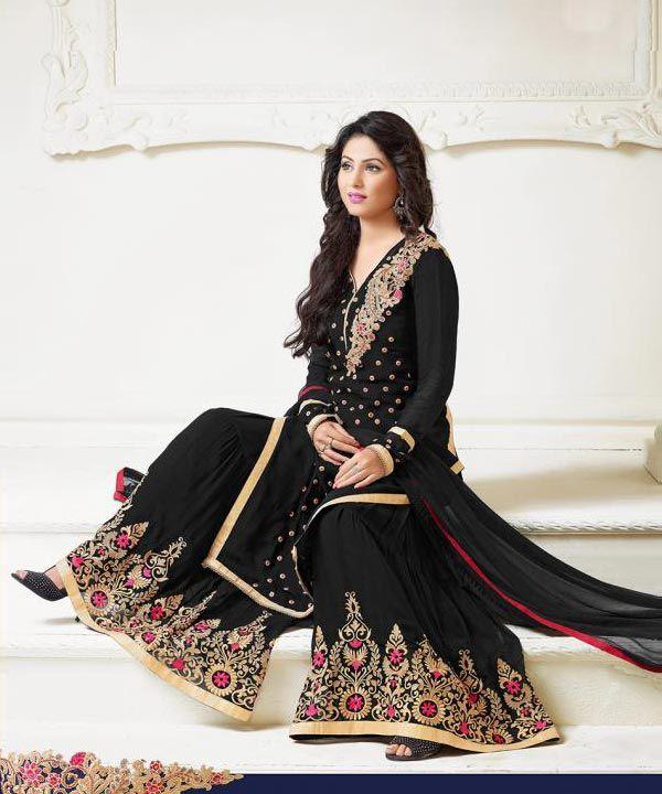 95a3f9cfd Thankar Latest Heavy Floor Length Designer Black Anarkali Suit   29% OFF Rs  1543.00 Suit Type  Anarkali Suit Top Colour  Black Bottom Colour  Black  Dupatta ...