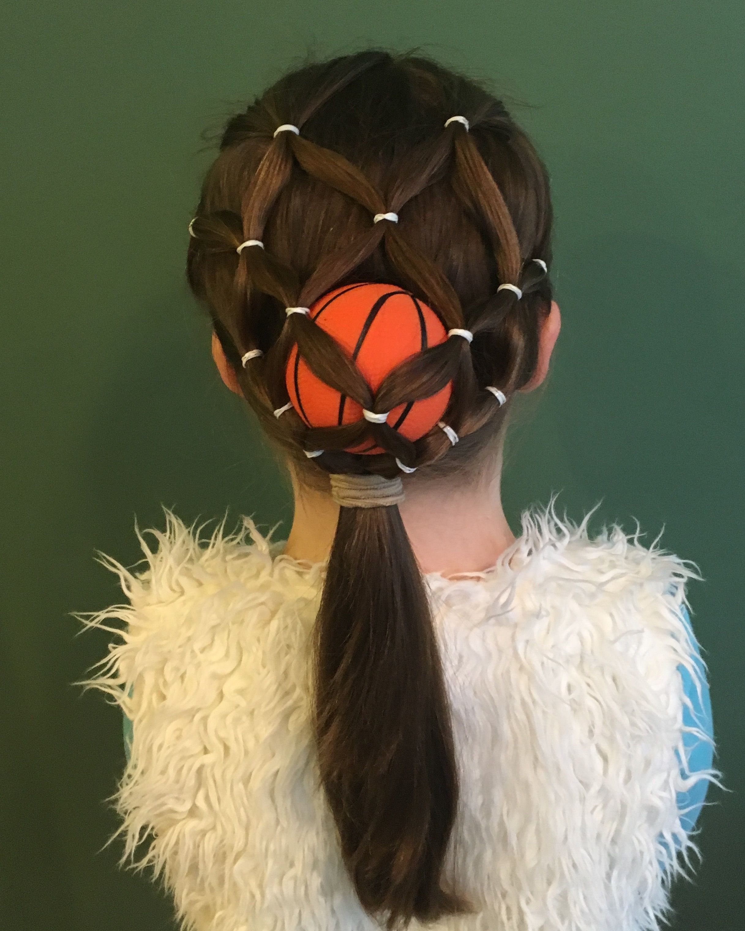 basketball hairdo for the sports fan, would be great for