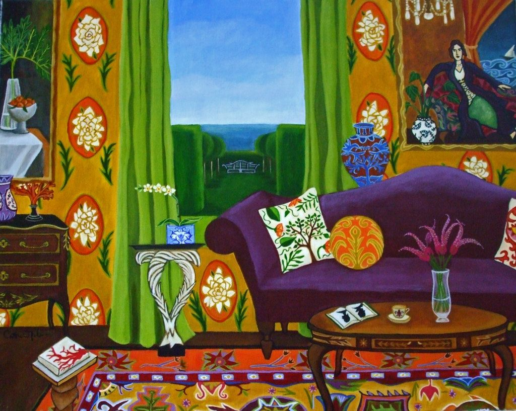 """The Details In The Fabric"" by Catherine Nolin. Acrylics"