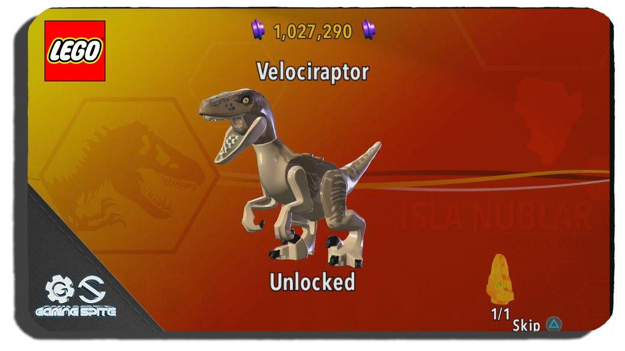 Lego Jurassic World How To Unlock Velociraptor Dinosaur