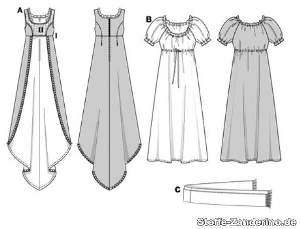 Patron robe de soiree taille empire