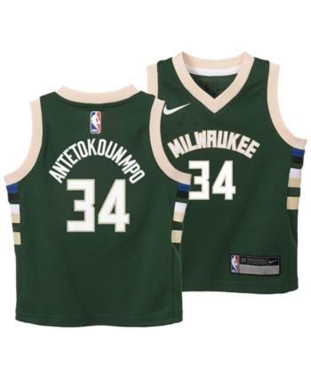 competitive price 0eb11 b0619 Nike Giannis Antetokounmpo Milwaukee Bucks Icon Replica ...