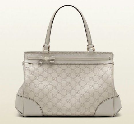 Gucci Mayfair Medium Tote Bag Guccisima Leather Off White Purse
