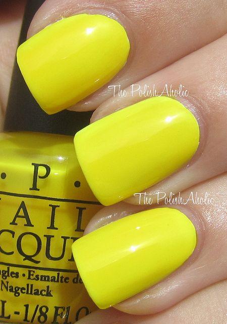 Opi Ridiculously Yellow Opi Nail Polish Colors Nail Polish