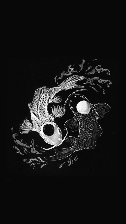 Koi Fish In 2020 Yin Yang Art Hypebeast Wallpaper Art Wallpaper