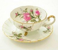 Ucagco Moss Rose Cup and Saucer