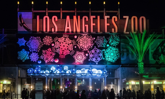 One Adult Or Child Ticket To L A Zoo Lights From November 15 January 5 Up To 20 Off Zoo Lights Santa Pictures How To Take Photos