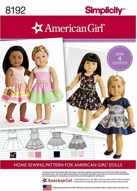 American Girl Doll Clothes Pattern 18 inch Doll Clothes by blue510 ...