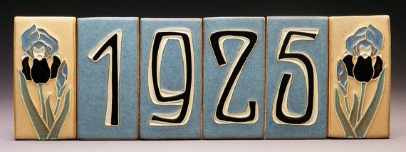Handmade House Number Tile Accents Made To By Prairiemiletile
