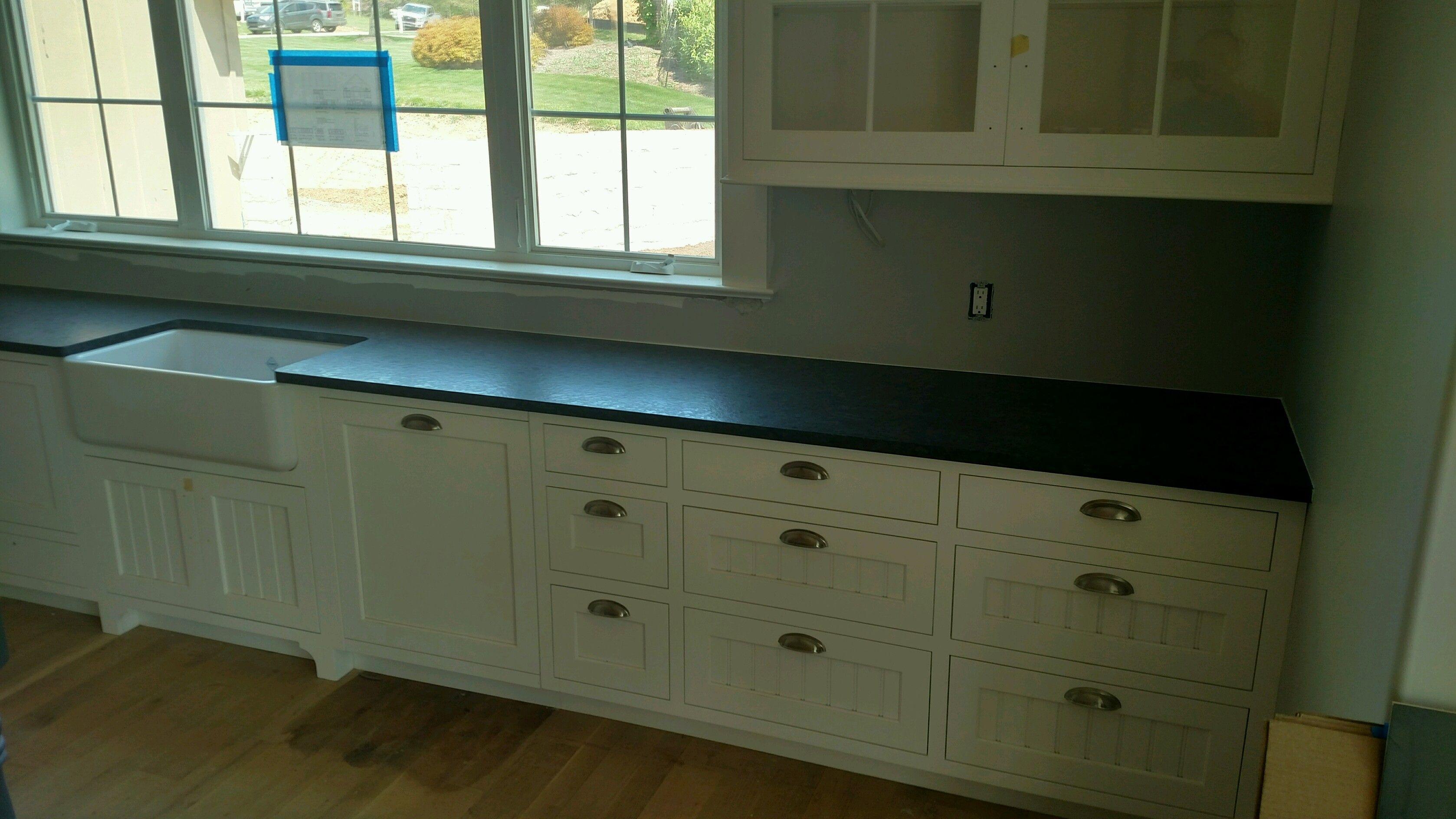 Best Steel Gray Leather Granite Kitchen Granite Countertops 400 x 300