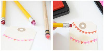 Pencil eraser stamps