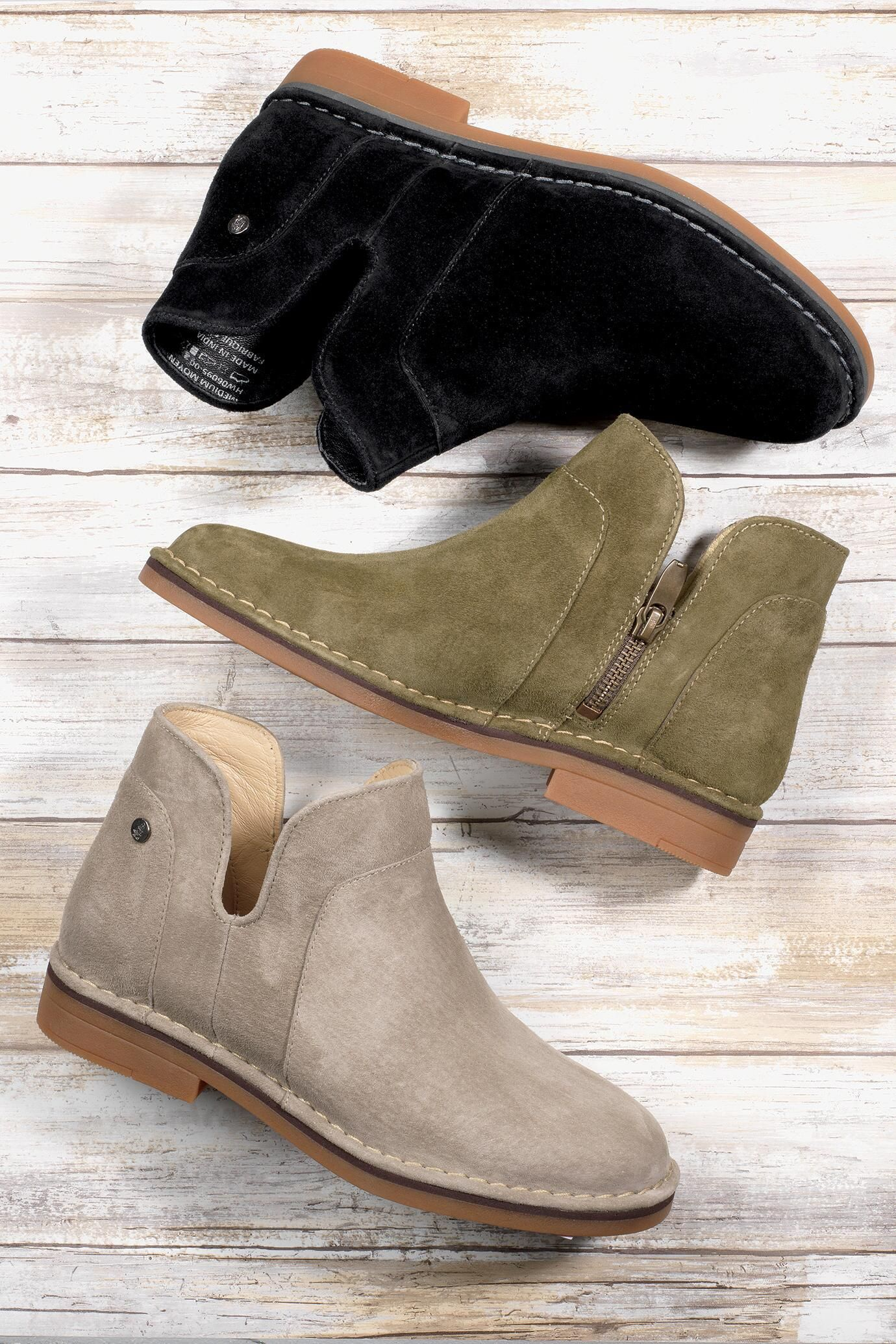 Claudia Catelyn Suede Ankle Boots By Hush Puppies Travelsmith 109 00 Hush Puppies Shoes Women Boots Hush Puppies Boots