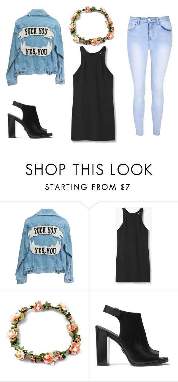 """""""Untitled #414"""" by dream-catcher-wolf-girl on Polyvore featuring MANGO, Michael Kors and Glamorous"""