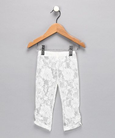 Take a look at this White Lace Leggings - Infant & Toddler by Sparkle Couture on #zulily today!