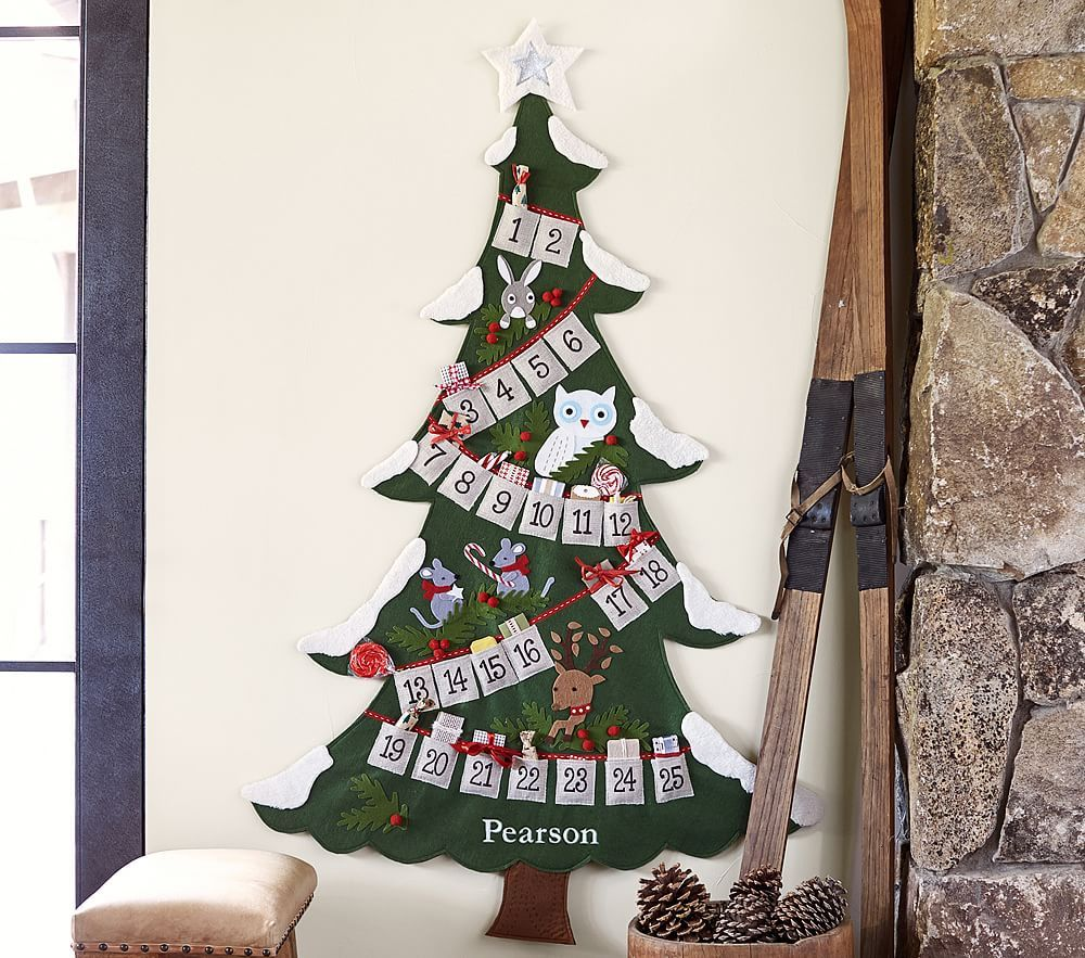 calendar barns wooden tree advent diy barn christmas kids pottery pin