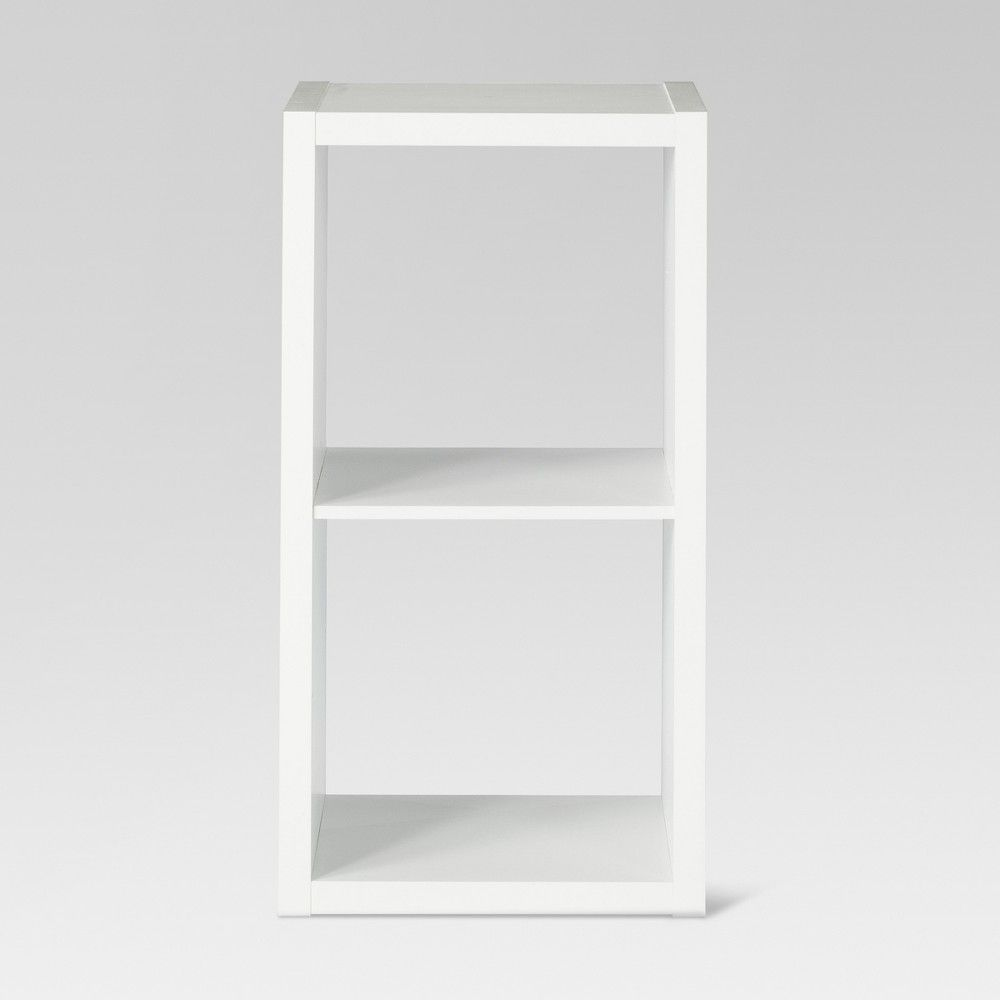 2 Cube Organizer Shelf White 13 Threshold In 2020 Shelves Cube Organizer Cube Shelves