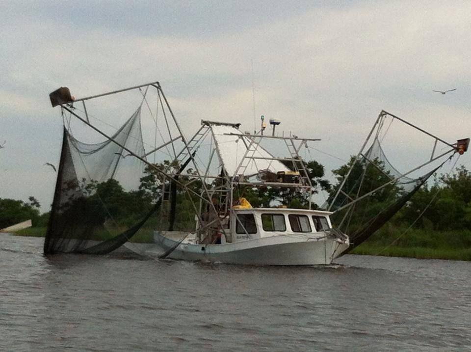 Skimmer boat--Louisiana style | Our Shrimp Docks--Dulac, LA in 2019