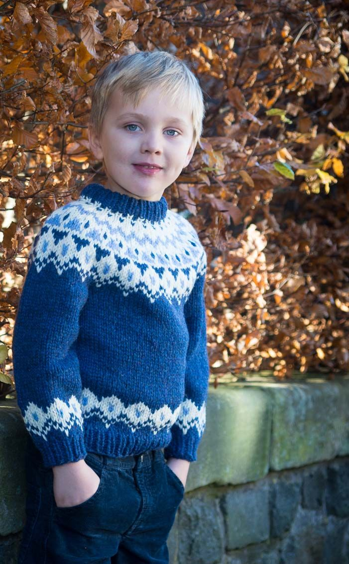 Child\'s Blue Icelandic Jumper by Scotweb | Knitting baby & toddler ...