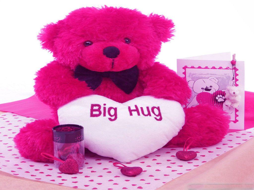 Red Teddy Bear Big Hug Hd Wallpaper Teddy Bear Pinterest Teddy