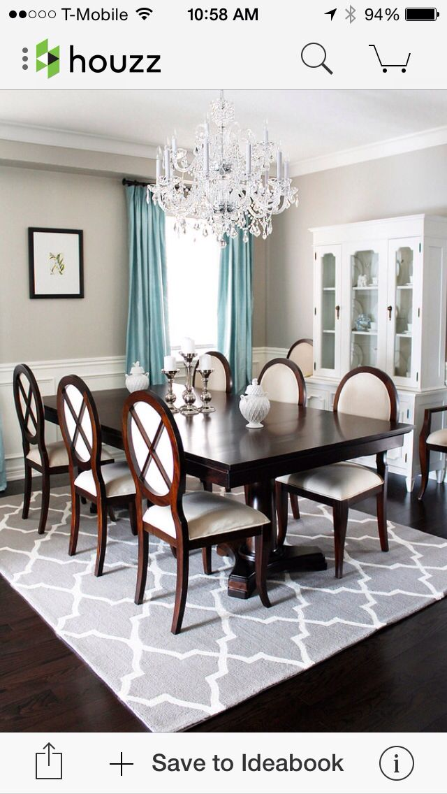 Houzz Dining Room Table Rug Under Dinning Chandelier
