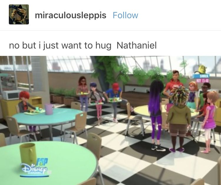 I think because he besides Adrien and marinette don't