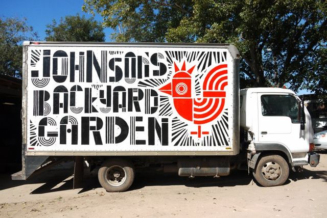 Johnsonu0027s Backyard Garden Branding / Collateral / Truck / Large Scale  Graphics
