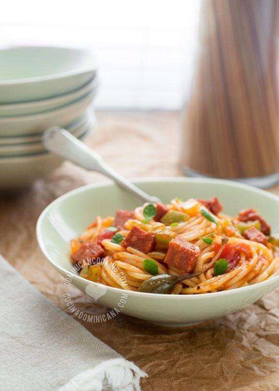 Receta Espagueti Spaghetti a la Dominicana  Receta  misiones  Espaguetis Recetas y Recetas dominicanas