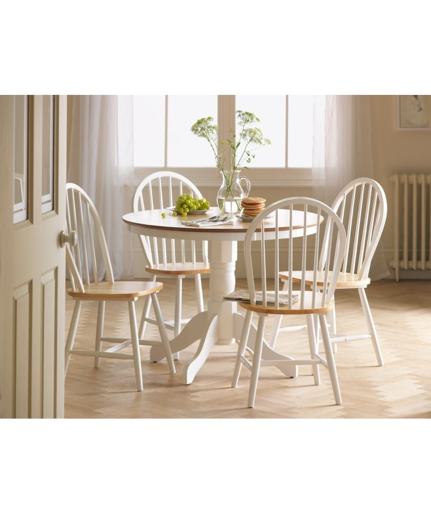 Argos Kitchen Furniture Buy Kentucky White Natural Fixed Top Dining Table And 4 Chairs At