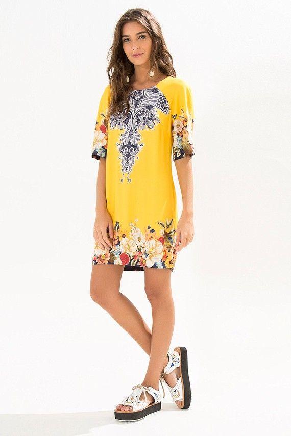 vestido curto brasilete
