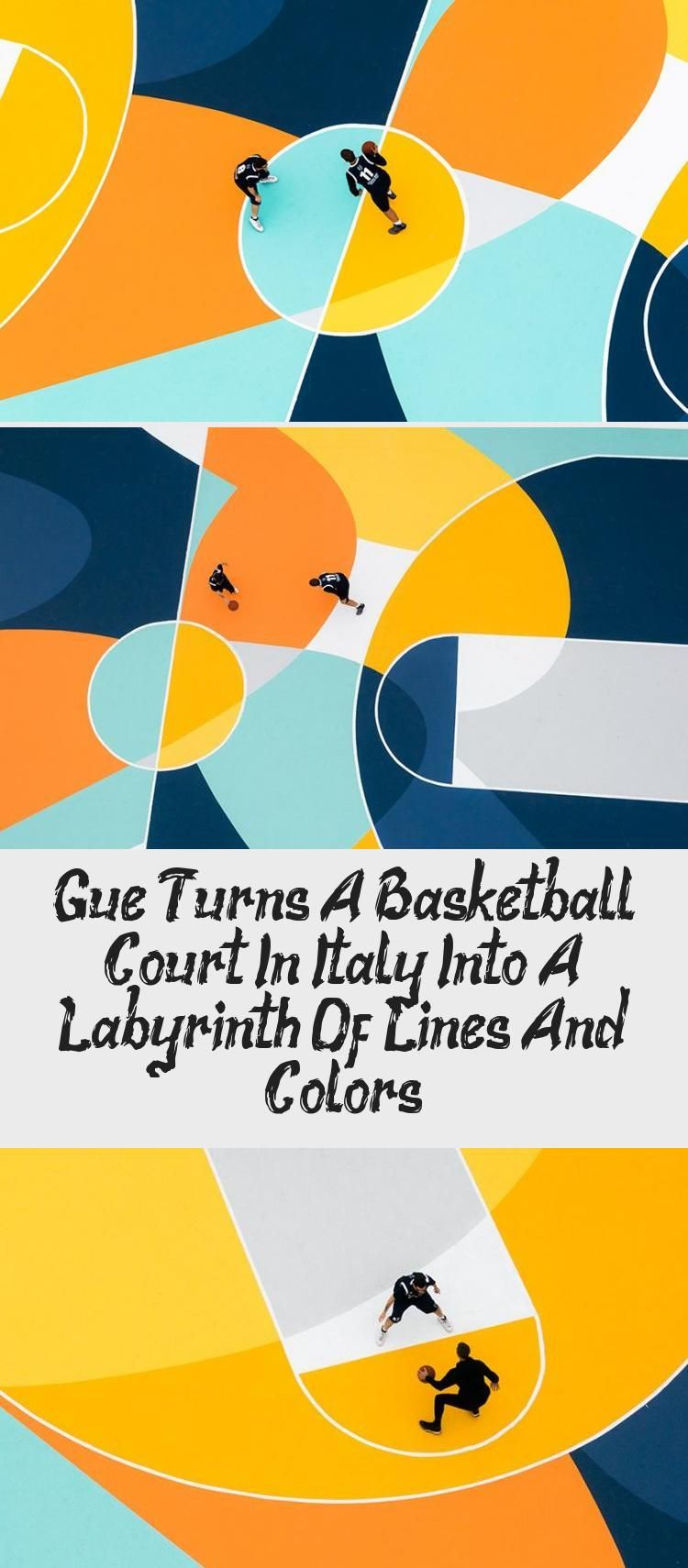 Gue Turns A Basketball Court In Italy Into A Labyrinth Of Lines And Colors  in 2020 | Art design, Alessandria, Italy
