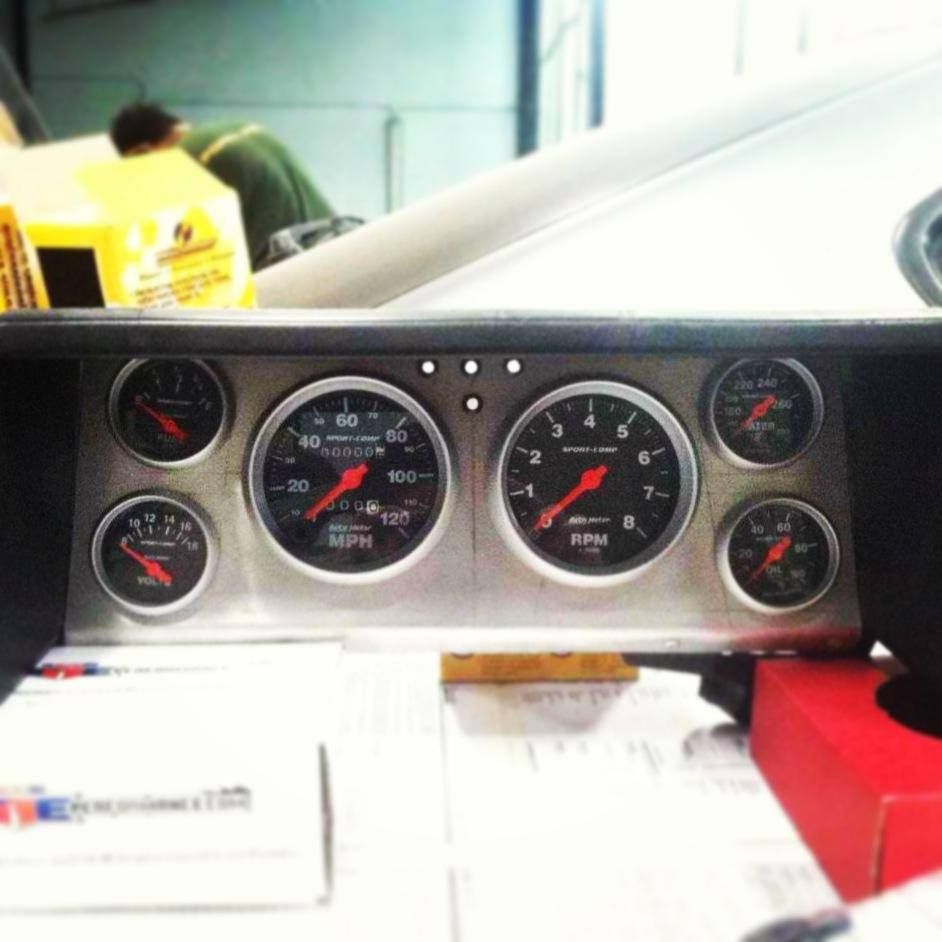 Custom Gauge Cluster For Our V8 Ae86 August 12 2013 Circuit Board Ford Pickup Truck Bronco Interior Dash Instrument Carpornracing Toyota