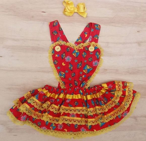 f2ca68985184 Vestidos de Festa Junina Adulto feitas especialmente para você. Mais de 432  Vestidos de Festa