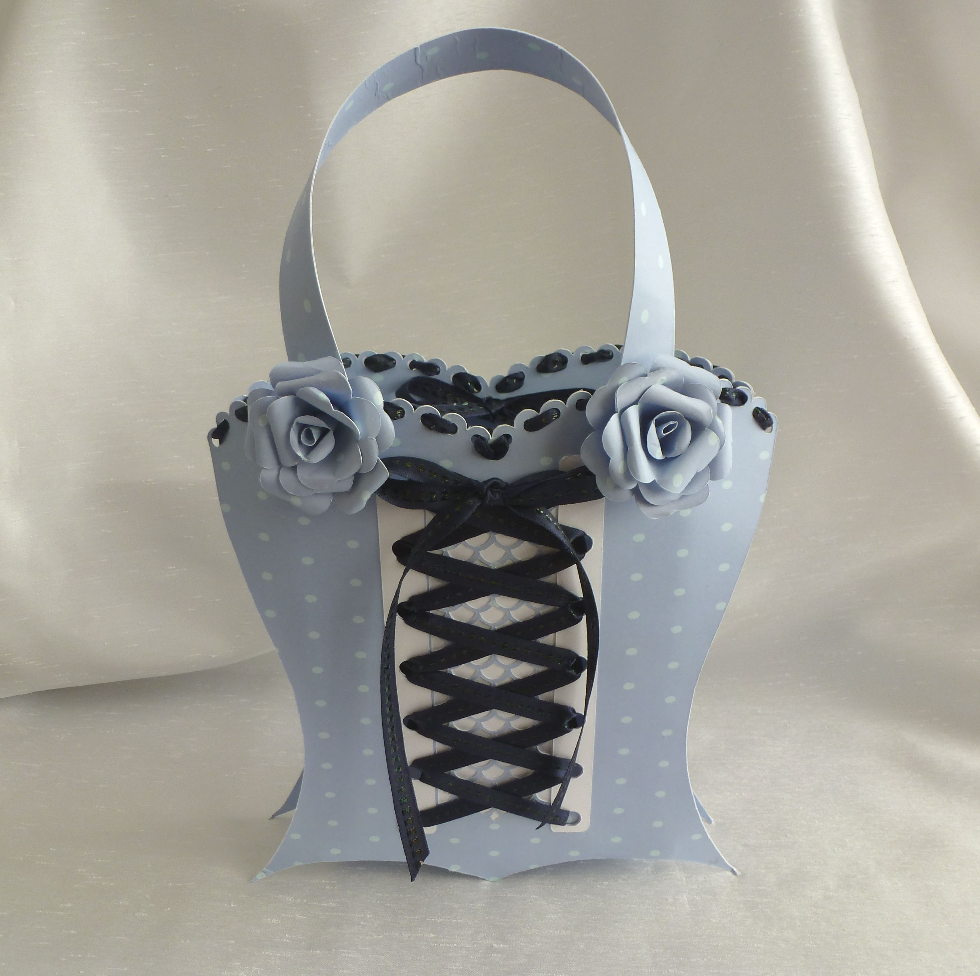 A lovely basque bag made from a Treasured template | Papercutting ...