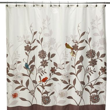 Birds Flowers Cute Shower Curtain Fabric Shower Curtains