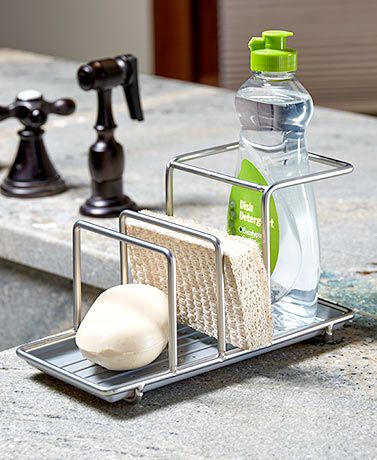 Keep the area around the kitchen sink neat and organized with this ...